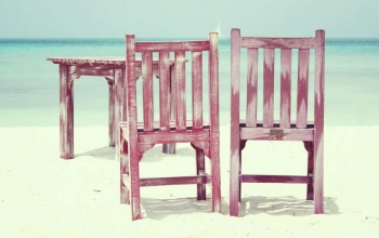 Table, Chairs, Dream, Ocean, Relaxation